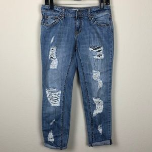 RSQ junior's 1 Brooklyn Slouch destroyed jeans